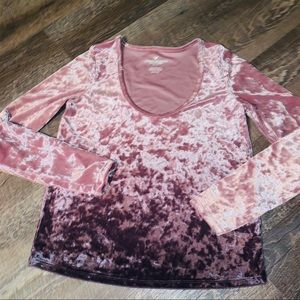 American eagle crushed velvet top
